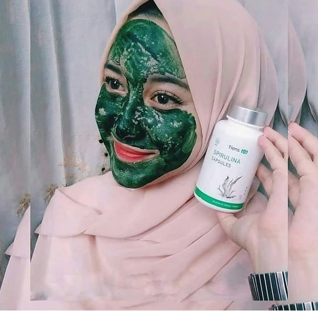 Review masker spirulina Tiens di Female Daily, recommended banget!